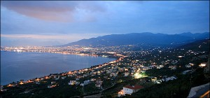 night view of Kalamata